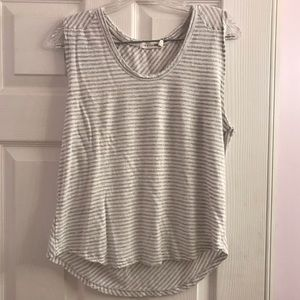 Anthropologie Rag and Bone White & Gray Tank L